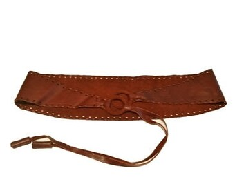 100% Leather Belt | Rust