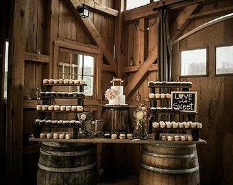 Whiskey Barrel Dessert Table
