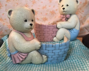 Vintage Burwood Co. Bear Nursery Wall Pockets