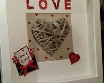 Valentines love frame