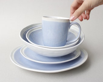 French Sky Blue Dinnerware