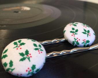 Mistletoe Bobby Pins