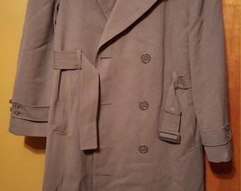 Vintage US Army Wool Regulation Overcoat, Size 38R
