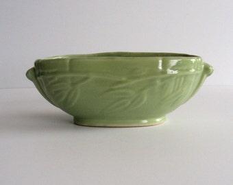 1940s Green Pottery Planter USA