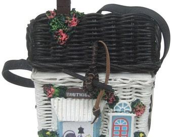Timmy Fashion Boutique Wicker Handbag.