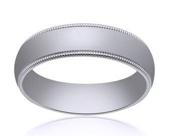 4.0mm 14K White Gold Wedding Band
