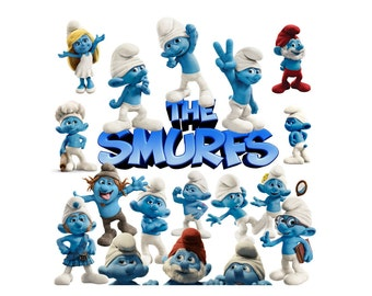 Smurfs 25 PNG files clipart