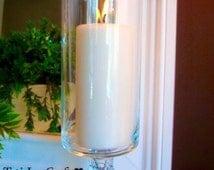 1 Glass Wedding Centerpiece// Candle Holder//Wedding table decoration//home decor.
