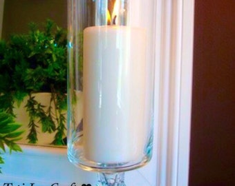 1 Glass Wedding Centerpiece// Candle Holder//Wedding table decoration//home decor.