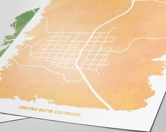 Crested Butte Colorado Map - Custom Print