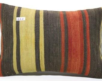 Decorative kilim pillow 16x24 Turkish kilim pillow cover 16x24 Lumbar pillow kilim lumbar pillow stripe kelim kissen boho pillow SP4060-120