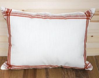 Burnt Orange Plaid Pillow