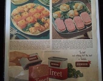 Vintage Ad. Armour Treet.  1950's.