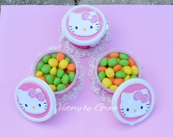 12 Hello Kitty Candy Favor Container,   Kitty Party favor, Kitty Containers, Hello Kitty Small Favor container,Hello Kitty Birthday Favor,