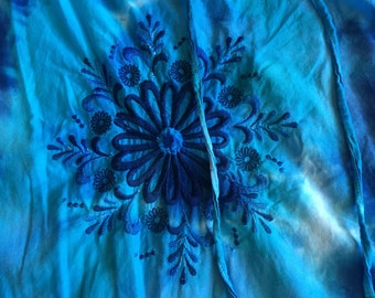 Upcycled womens blouse tie dye
