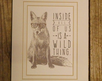 Fox | what did the fox say | Wild fox | fox decor | fox saying | inside all of us | wild thing | | Home Decor | gift for friend | foxy