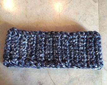Grey Crocheted Headband