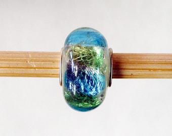 European Charm Bracelet 925 Sterling Silver Murano Glass Bead F089