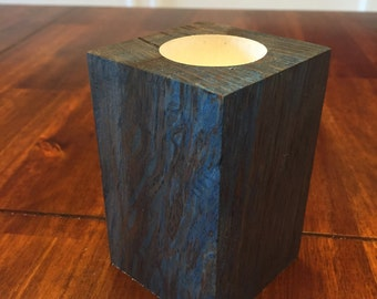 Reclaimed Mexican Oak tea light/ candlestick/ planter