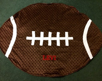 Football Blanket - Infant or toddler, CUSTOMIZE the team!
