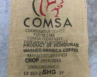 Burlap Coffee Bag, Honduras, with logo (36x30)