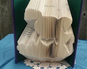 Dog & Cat book fold - Book fold art