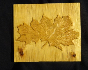 """Wood Carving, """"The Mighty Leaves"""""""