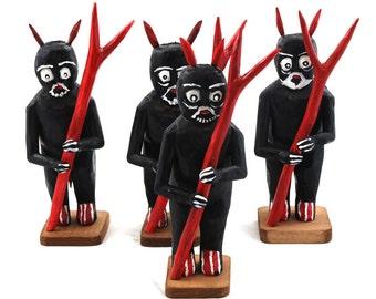 Devil / folk devil/ folk art from Poland / folk sculpture/ folk statue/ devil