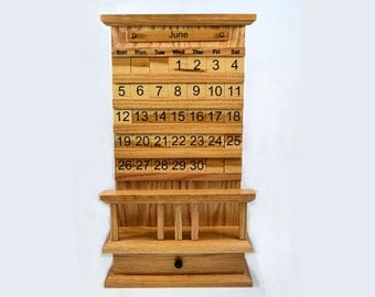 Deluxe Mission Style Perpetual Calendar