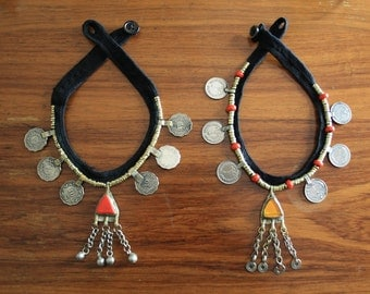 Vintage Tribal Necklace Banjara Coins and Bells Afghan Kuchi Bib Necklace Bedouin Nomadic Necklace Boho Gypsy Necklace