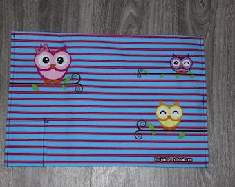 Doily blue-pink OWL
