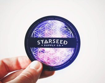 "Starseed Magnet (Flower of Life) - 3"" Metaphysical Refrigerator or Car Magnet - Flexible High Quality Sacred Geometry Accessory"