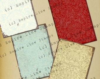 Ornate and Colour Pattern Backgrounds for ATC Downloadable Printable Scrapbook Paper Crafts