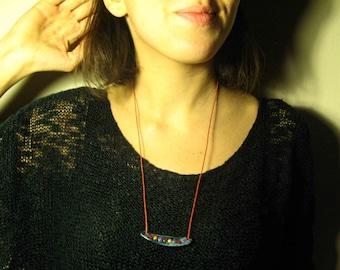 "Unique Handmade Clay Necklace ""Free Shipping"" ""Retro"""