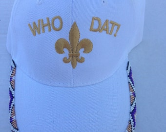 Who Dat Beaded Cap