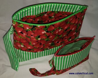 Strawberry Project Bag
