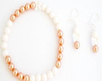 Handmade Swarovski Crystal and Pearl Jewellery Set