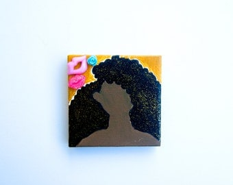 Tiny Glitter Fro Painting