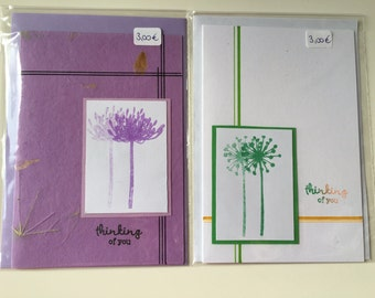 """Greeting card set """"Thinking of you"""""""