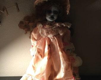 April creepy Gothic Victorian horror doll