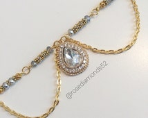 Gold double chain headpiece