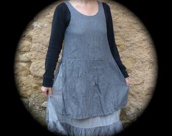 apron dress grey