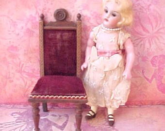 Darling Victorian  Era Doll House Eastlake Style Doll House Chair