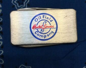 Vintage oilfield money clip/ pocket knife