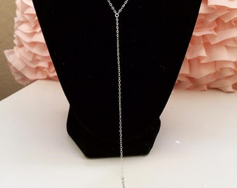 SALE TODAY ONLY! Sterling Silver Drop Chain Necklace W/small cross