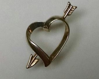 Gold AVON Heart Pin