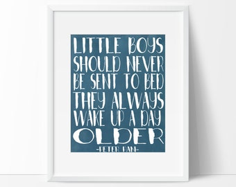 Little Boys Should Never be Sent to Bed Peter Pan Printable Wall Art
