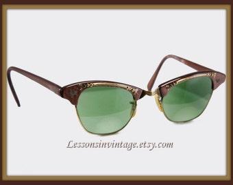 Vintage Horn-Rimmed Eyeglasses, Vintage Horn-Rimmed Sunglasses, Vintage Horn-Rimmed Glasses, Retro Horn-Rimmed Eyeglasses, Retro Eyeglasses