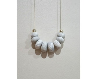 Polymer Clay Necklace - Marble