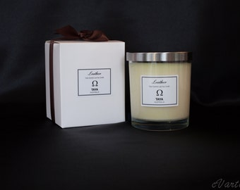 TRIPLE Scented Luxe Soy Wax Candle - Leather